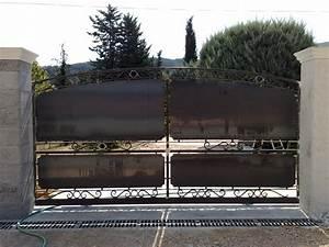 Portail En Fer Lapeyre : portail coulissant en fer 4m portail ~ Premium-room.com Idées de Décoration