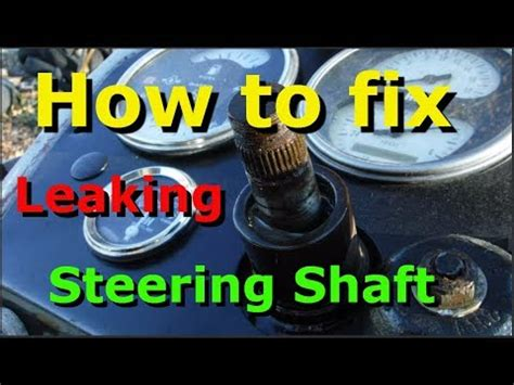 replace  power steering shaft seal