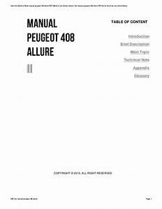 Wiring Diagram Peugeot 408 Allure