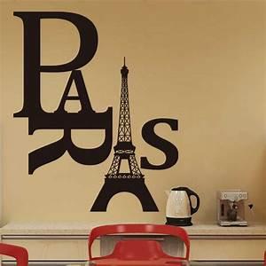 New Fashion Paris Eiffel Tower Wall Art Nautical Stickers ...