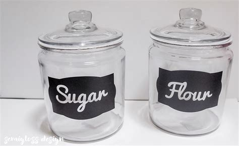 Kitchen Canister Labels by Diy Kitchen Canister Labels With A Silhouette With Free