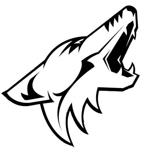coyote clipart black and white pictures of coyotes coloring home