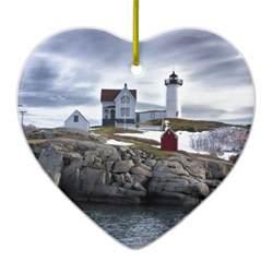 the quot nubble quot cape neddick lighthouse york maine ceramic ornament zazzle
