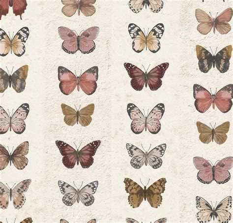 scandinavian butterfly geometric wallpaper earthy