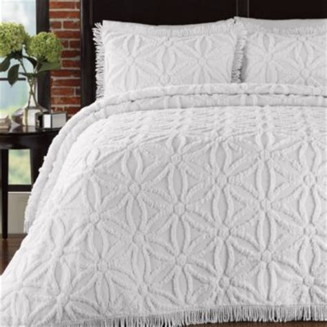 buy white chenille bedspreads  bed bath