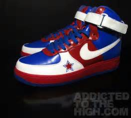 Red White and Blue Nike Air Force Ones