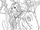 Jason Coloring Pages 13th Friday Printable sketch template