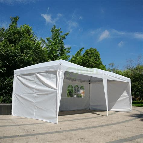 ez pop  wedding party tent folding gazebo beach canopy  side walls ebay