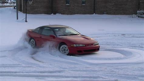 1993 Eagle Talon TSI in snow - YouTube