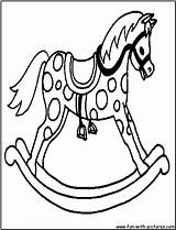 Horse Rocking Coloring Colouring Horses Pages Printable Fun Template Baby Breyer sketch template