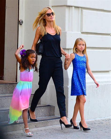 Heidi Klum With Her Daughters Howardstern