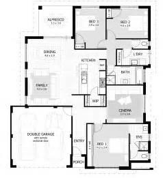3 bedroom house blueprints 3 bedroom house plans home designs celebration homes