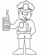 Sheriff Coloring Badge Police Printable Pages Getcolorings sketch template