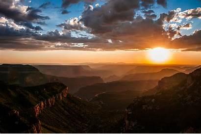 Canyon Grand North Less Rim Sunset Arizona