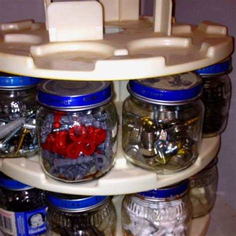 Garage Storage For Nails And Screws by Jar Ideas For Screws Spinner And Baby Jars To Keep