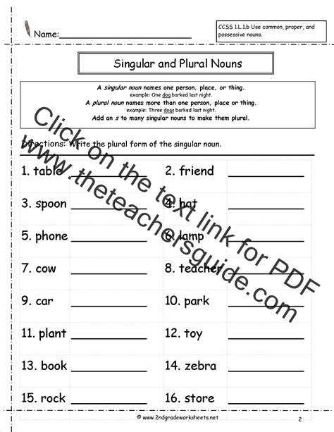 noun worksheets high school  common  proper nouns