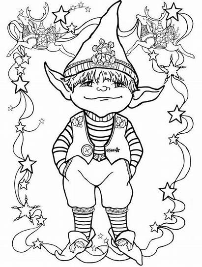 Elf Shelf Coloring Printable Disney Pages Angles