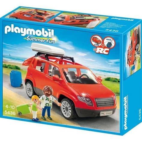 playmobil auto mit anhänger playmobil 5436 voiture avec coffre de toit achat vente univers miniature les soldes sur