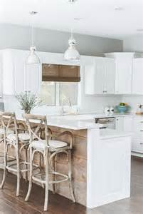 kitchen island reclaimed wood breezy summer house on lake wisconsin clad in chic modern rustic style