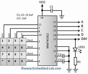 Mm74c922 16-key Encoder
