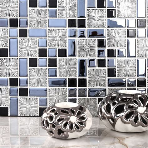cheap glass tiles for kitchen backsplashes galvanized 3d metalic backsplash kitchen mosaic tile 9404