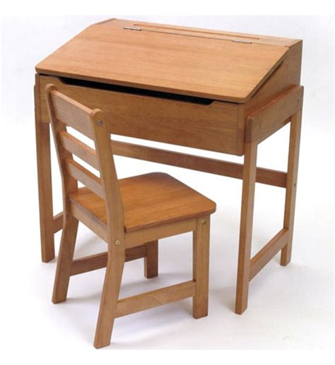 childrens wooden desk with chair pecan