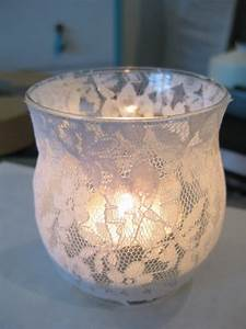 Life, Designed, Diy, Lace, Candle, Holders