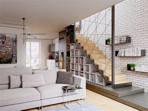 living room small and wooden staircases brick wall design 25 unique staircase designs to take center stage in your home