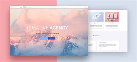 portfolio  template bootstrap  material design