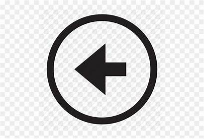 Button Rewind Control Icon Left Arrow Transparent