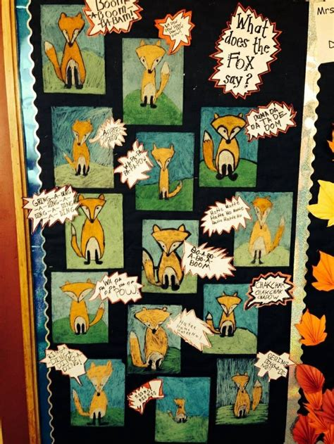 fox  onomatopoeia bulletin board idea