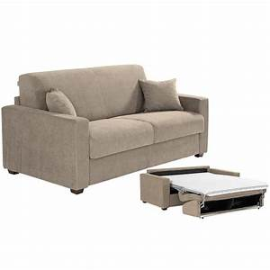 canape convertible milano tissu taupe 120x190 achat With canape convertible tissu