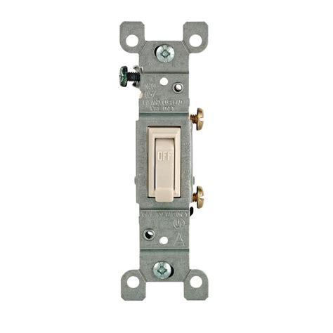 Leviton Amp Single Pole Toggle Switch Light Almond