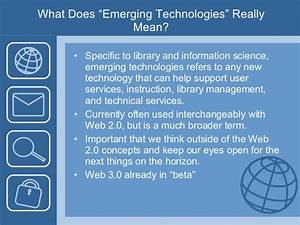 Emerging Technologies and Wikis for Libraries