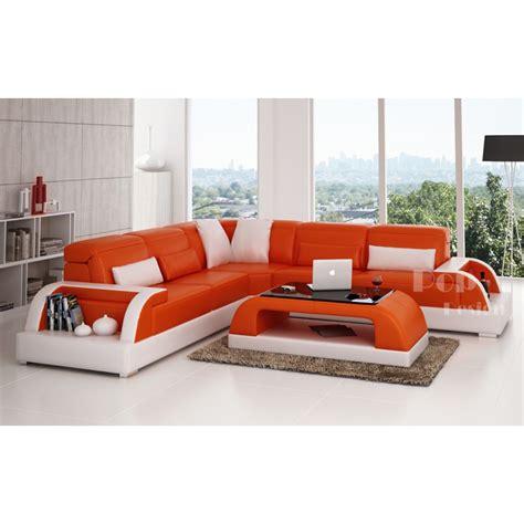 dessus de canapé d angle canapé d 39 angle design en cuir bolzano l pop design fr