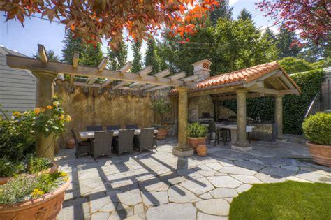 tuscan outdoor kitchen mediterranean patio vancouver