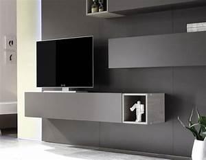 Mur Tv Ikea : meuble suspendu laque gris ~ Teatrodelosmanantiales.com Idées de Décoration