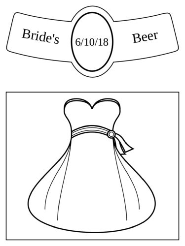 "OL3078 - 3.4999"" x 2.9999"" Beer - Wedding - Beer Bottle ..."