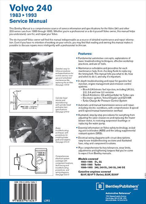 cover volvo repair manual volvo