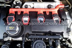 Genuine Red Coil Pack Wiring Harness Cover For 2 0 Tfsi    Tsi