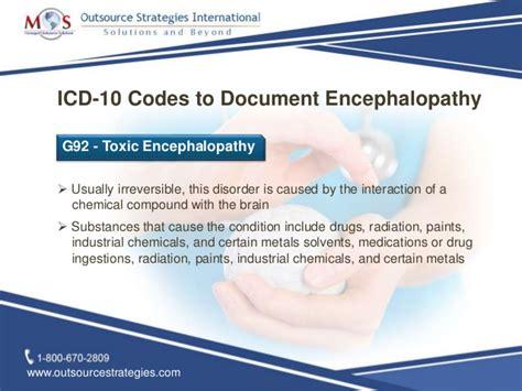 icd  codes  document encephaloopathy