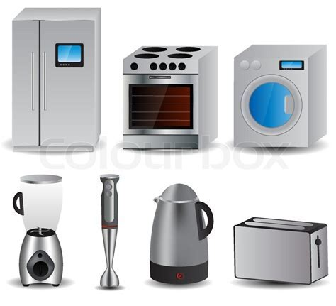 Set of of household appliances vector     Stock Vector