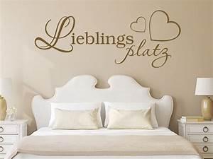 Wandtattoo Für Schlafzimmer : wandtattoo lieblingsplatz schlafzimmer von ~ Buech-reservation.com Haus und Dekorationen