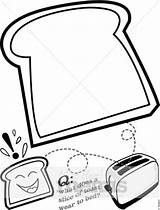 Bread Slice Toast Cartoon Drawing Clipart Coloring Toasted Template Pages Piece Clip Breakfast Musthavemenus Sheet Menu Sketch Toaster Holiday Let sketch template