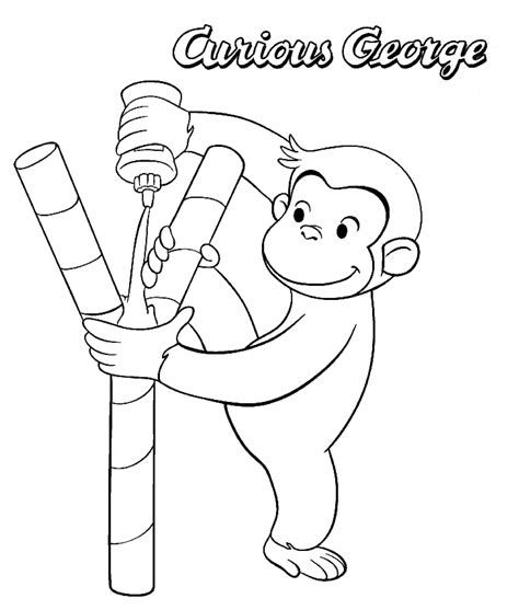 curious george drawings coloring