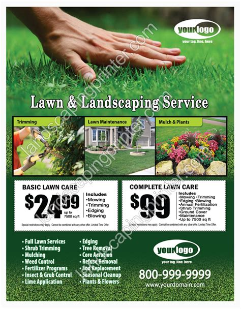 landscaping flyer lawn care flyers grass