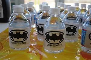 Gotham City Water Co. onto regular mini water bottles ...