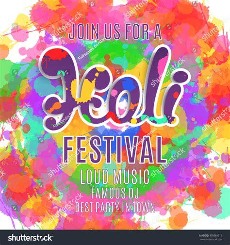 holi festival poster template flyer brochure stock vector