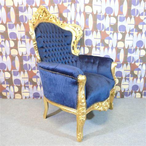 fauteuil baroque bleu nuit meubles art d 233 co le