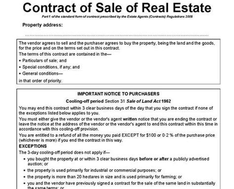 preliminary sale agreement template contract of sale of real estate lawyers conveyancing